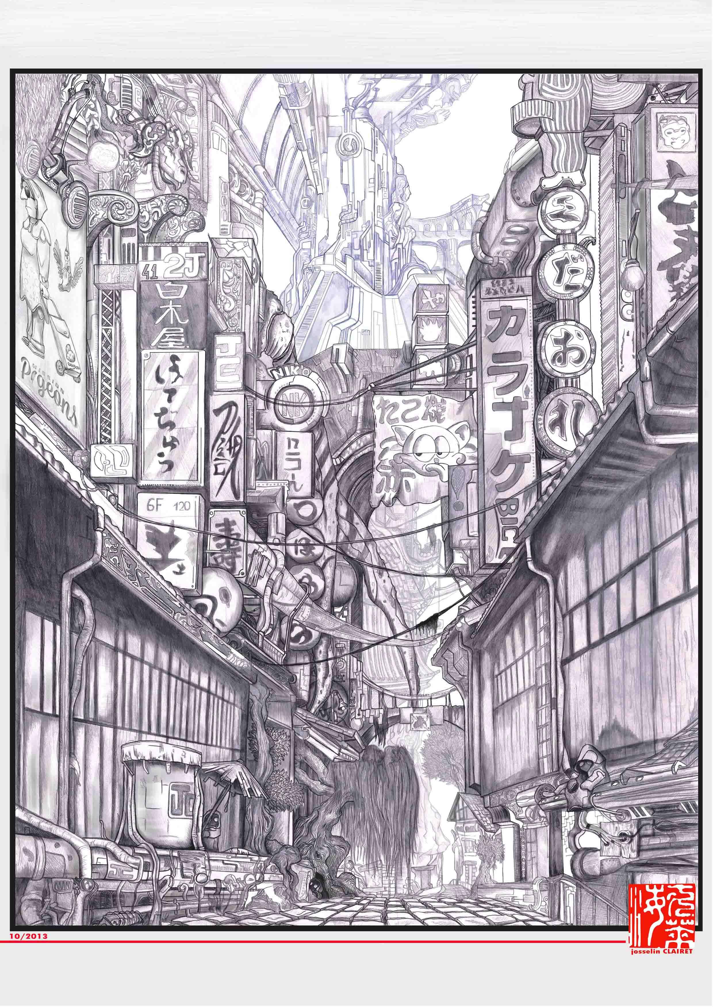 Portfolio Josselin Clairet 187 Dessin Tokyo